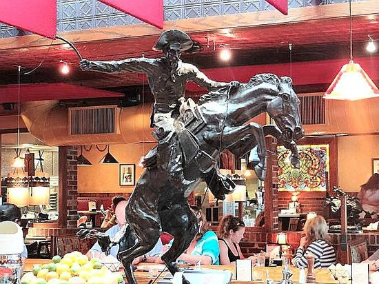 Silverado: sculpture on bar