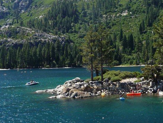 Tahoe Queen: Kayakers in Emeral Bay