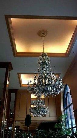 Hilton Minneapolis: Fancy Chandelier in the Lobby