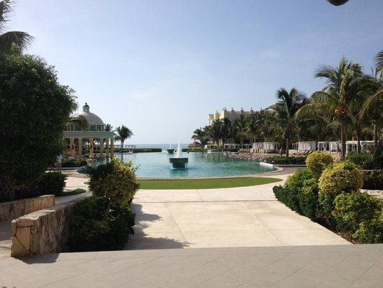 Iberostar Grand Hotel Paraiso : View across main pool out to ocean