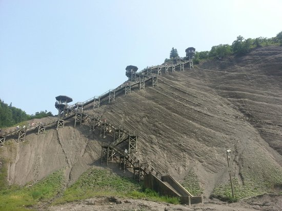 Parc de la Chute-Montmorency : Take the stairs!