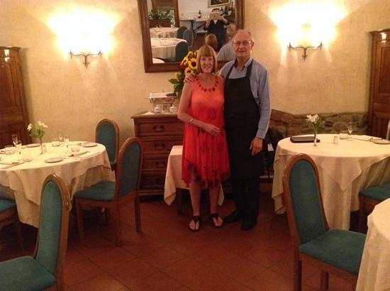 Taverna Del Bronzino: Umberto & myself at Taverna Bronzino
