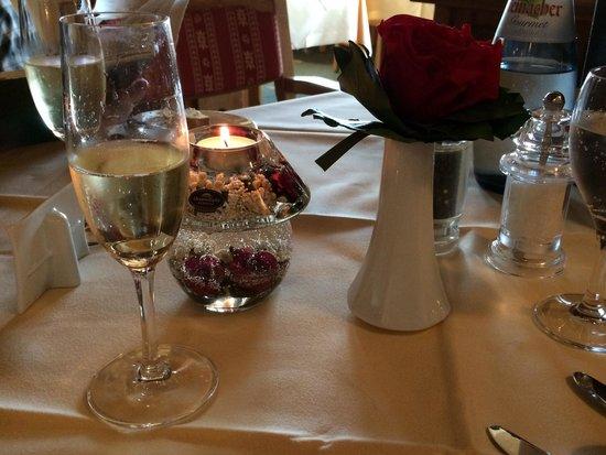 Krone Igelsberg: Tischdekoration