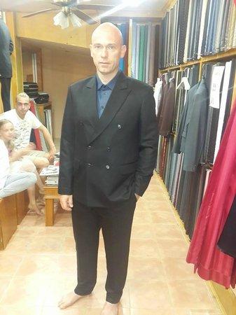 Ash Tailor Samui : slim fit cashmere wool suit crease less