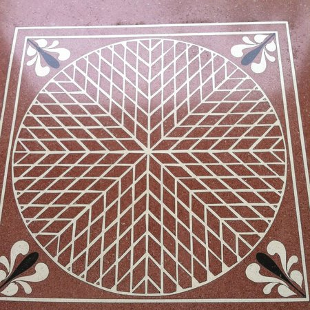 The Getty Villa : intricate inlay floor designs