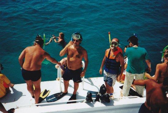 Îles Giftoun : Dykförberedelser vid Giftun Island