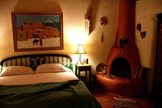 Hacienda del Sol : Room with adobe stove evening