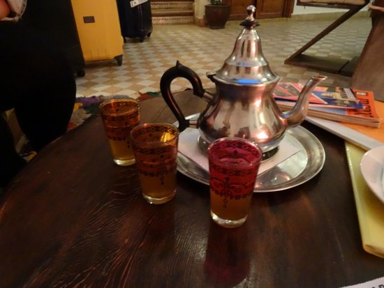 Riad 107: Moroccan tea on arrival