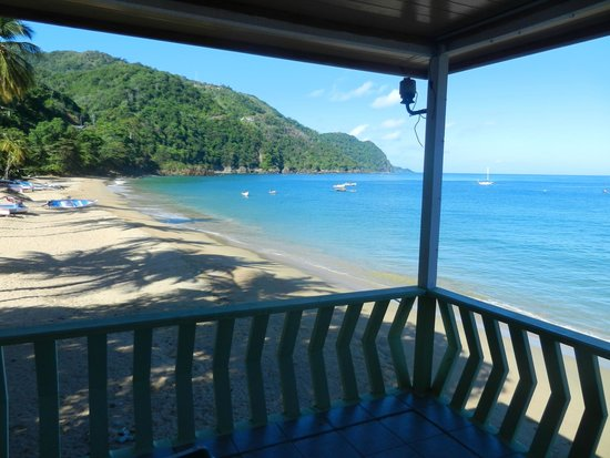 Naturalist Beach Resort: View from our deck - Castara beach