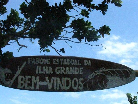 Lopes Mendes Beach: Lopes mendes, cartel de ingreso