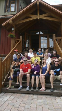 Copper Horse Lodge: Our groups at the hotel! With the owner