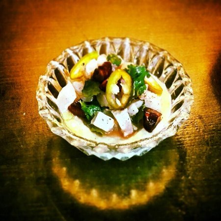 Dalal: Pinecone frozen soup with fish tartar