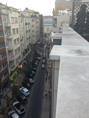 Trendy Deluxe Apartments: View down the road from roof terrace