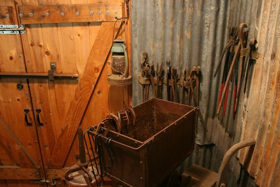 Hangtown's Gold Bug Park: Some of the tools used in the gold mining process