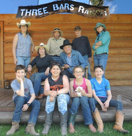 Three Bars Guest Ranch: Our family of ten