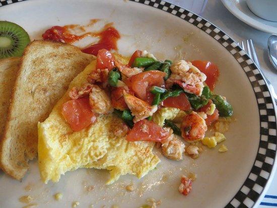 Amore Breakfast : lobster omelette