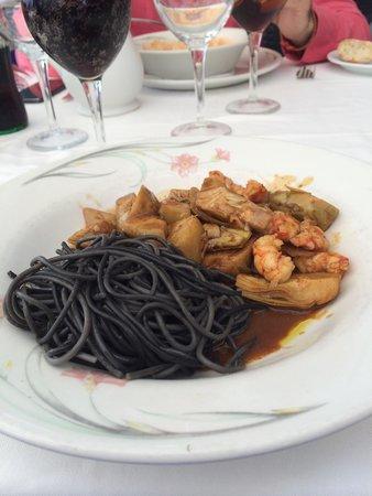 Restaurante Rincon de Pepe: Артишоки с креветками и пастой