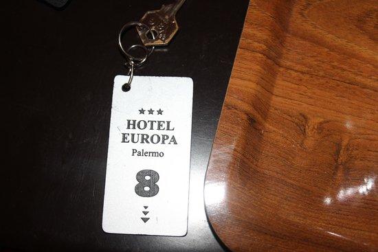 Hotel Europa Palermo: Pass ou clé de chambre