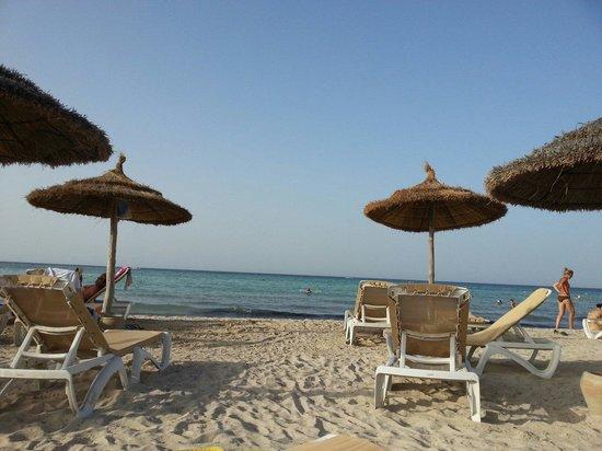 Seabel Rym Beach: Spiaggia il pomeriggio.