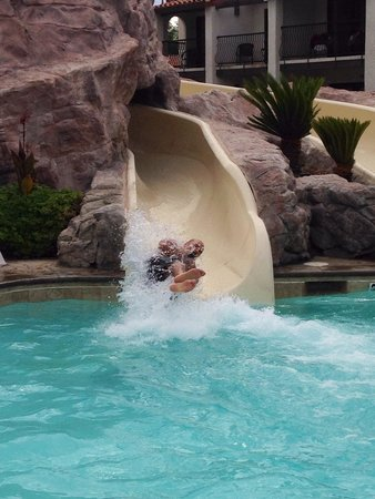 Omni Rancho Las Palmas Resort & Spa: Shot out if that slide!