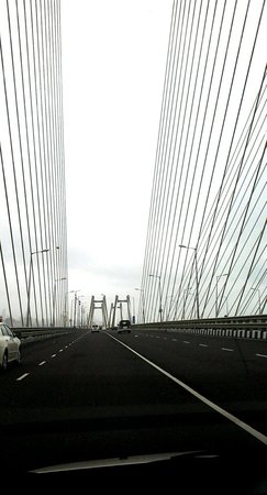 Bandra-Worli Sea Link: Frm my car view
