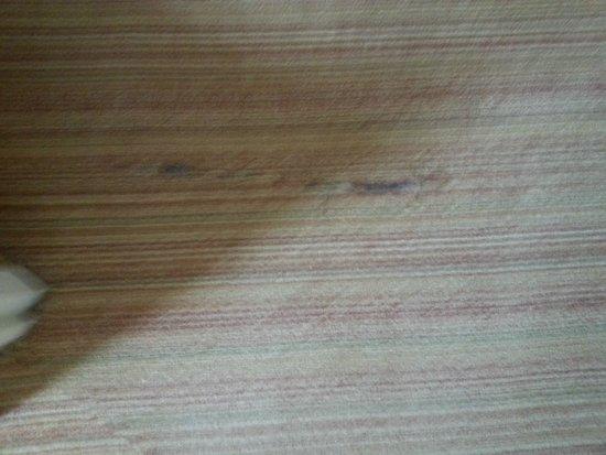 Residence Inn Newport News Airport: Torn Carpet