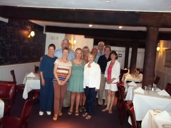 """Wharf Restaurant: July 21, 2014 our 47th """"mini-reunion"""" lunch at The Wharf!"""