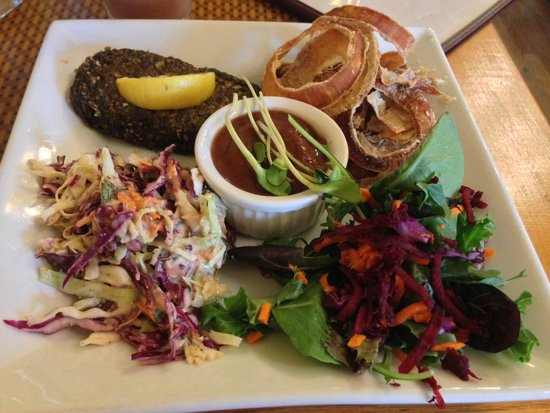 Organic Garden Cafe : Faux Fish & Chips special
