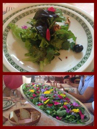 L'Erbhosteria del Castello: le insalate con i fiori