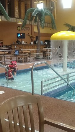 Ramada Plaza Fargo Hotel & Conference Center : Kid Pool and Bar/Food Area