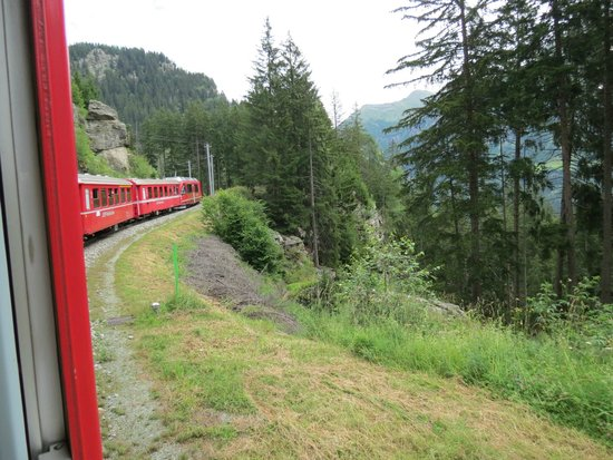 Bernina Express: One of the bends