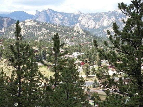 Historic Crags at the Golden Eagle Resort: View from our room facing North