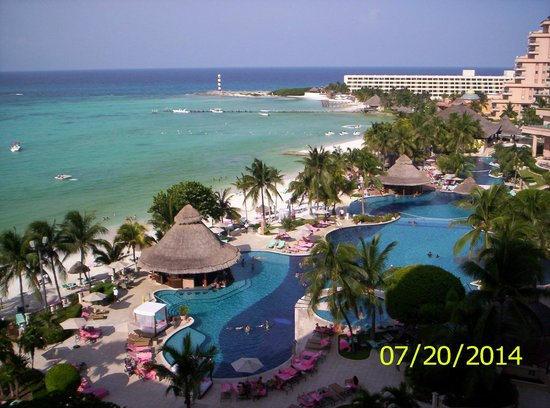 Grand Fiesta Americana Coral Beach Cancun: from our room balcony