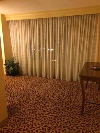 Bridgewater Marriott: Half of the wall of windows. Other half by entryway.
