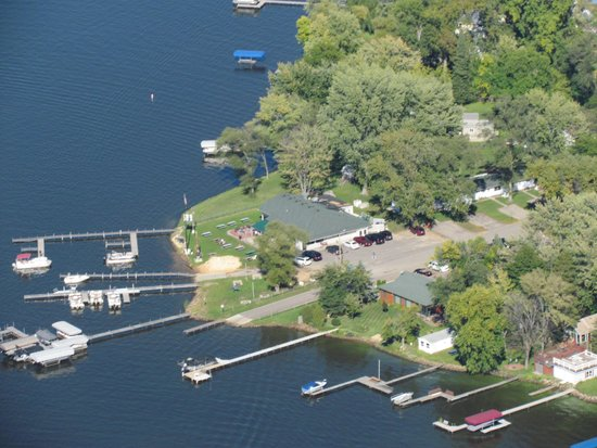 Lake Wisconsin Resort: Birds Eye View of our Resort Area