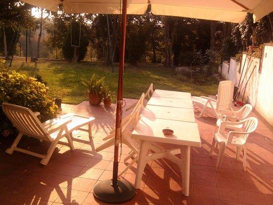 Villa Chauvet : Questa è una parte riservata ai proprietari. Qui abbiamo preso il the insieme ai proprietari.