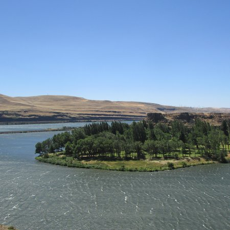 Columbia Hills State Park : That green area is the Park