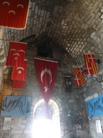 Castle of St. Peter : Flags in The English Tower