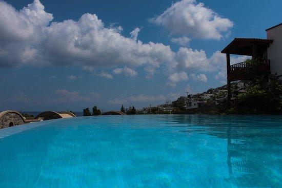 Temenos Luxury Suites Hotel & Spa: Infinity pool view