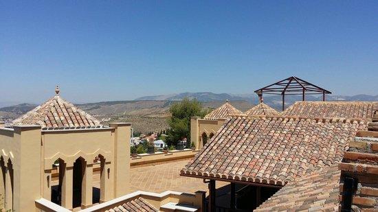 Hotel Los Cerezos: Tak terassen