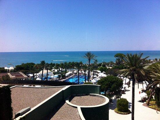 Limak Atlantis Deluxe Hotel & Resort: Blick vom großen Fenster aus