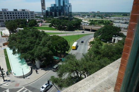 The Sixth Floor Museum/Texas School Book Depository: View from seventh floor.