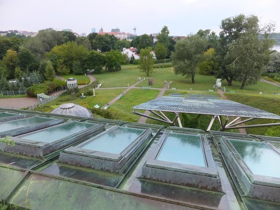 University of Warsaw Library: Panoramic view of Warsaw