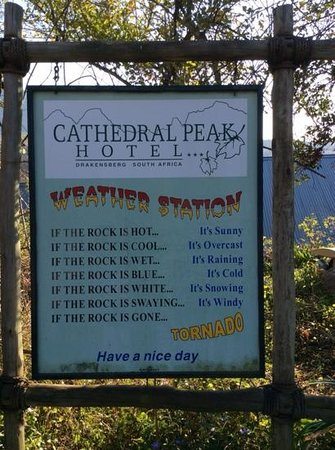 Cathedral Peak Hotel: The weather forcast