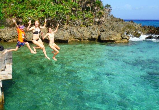Media Luna Resort & Spa : dive dock jump