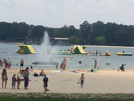 Beach and floating picture of callaway gardens pine mountain tripadvisor for Callaway gardens treetop adventure
