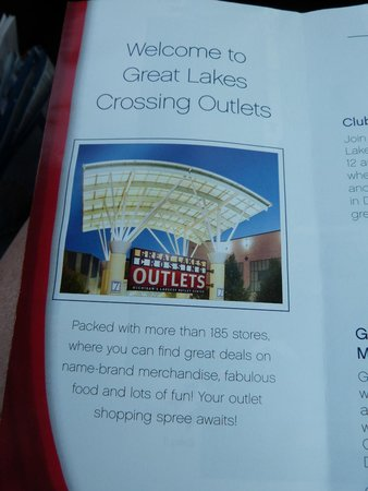 Great Lakes Crossing Outlets: brochure