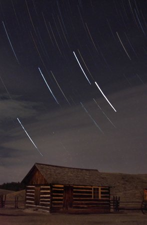 Florissant Fossil Beds National Monument : Star trails Hornbek Homestead