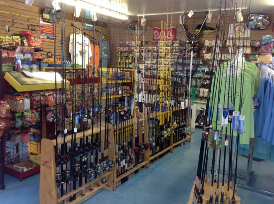 Queen Isabella State Fishing Pier: Great rod and reel selection