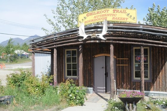 Chilkoot Trail Authentic Sourdough Bakery : Front of Sourdough Bakery, Carcross Yk